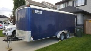 Next to New  7x18 Covered Trailer great condition