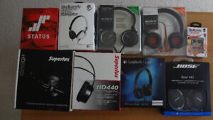 Headphone collection for sale