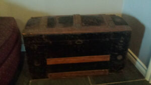 Old wood/metal storage trunk