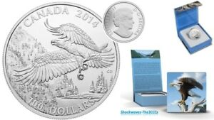 2014 Silver $100 MAJESTIC BALD EAGLE Coin