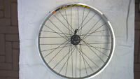 """26"""" Mavic 721 Rear Rim Laced to Deore Hub with DT Spokes"""