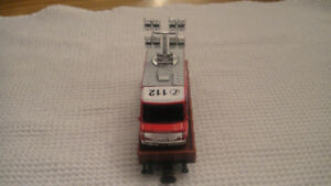 MARKLIN HO FLAT CAR WITH FIRETRUCK WITH LIGHTS