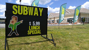 New 6' X 8' Portable Mobile Sign