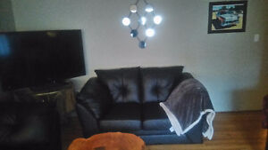 Faux couch and love seat
