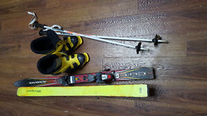 Kids size 13/1 skis with poles and boots