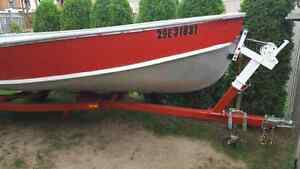 16 foot aluminum boat with 20Hp motor and trailer