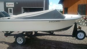 15' Fibreglass Boat with 50hp Envinrude and trailer Stratford Kitchener Area image 2