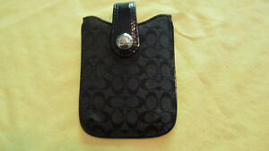 Coach Iphone case- black signature- used once