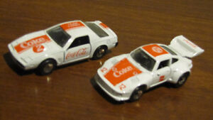 Two 1988 Hartoy Coca-Cola cars - Issued in 1988 - 1:68 scale