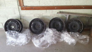 Black Steel Rims for Sale 15x6 (5 bolt) 10 months old very new