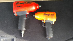 Snap on 1/2 inch and 3/8 air impact Brand New Condition
