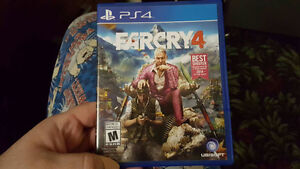 Farcry 4 and Fallout 4 (PS4) for sale. $15 and $20