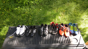 Boys soccer/golf cleats and DC shoes size 6