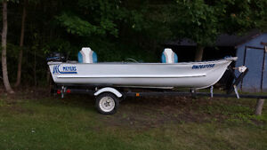 Meyers 14 Ft Aluminum Boat , Motor and Trailer