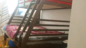 Bunk bed wooden with ladder