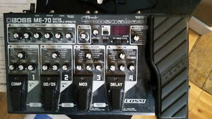 Boss ME-70 Guitar Multiple Effects; Like-New w/Box&Power Supply