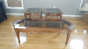 Coffee Table Set - REAL CHERRY WOOD