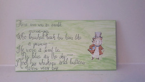 Beatrix Potter Canvas with Nursery Rhyme