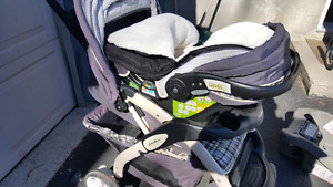 Eddie bauer sure fit 35 car seat with base and stroller