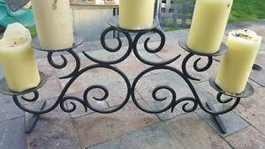 Beautiful wrought iron center piece / candle holder
