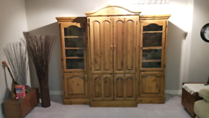 Pine Entertainment Wall Unit