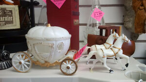 1970s Cinderella Horse and Carriage Wedding Cake Topper Prince George British Columbia image 1