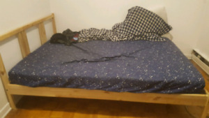 IKEA mattress and bedframe