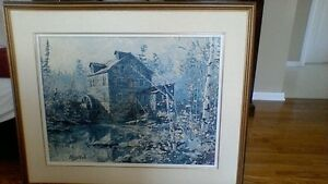 Keirstead large painting....titled....Birch Creek Mill