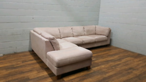 Free delivery: Palliser Microfibre Sectional Sofa