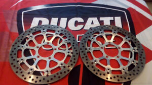 DUCATI 999/749 FRONT ROTORS WITH 5000KM LIKE NEW