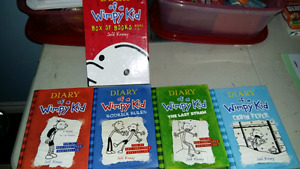 Dairy of a Wimpy kid books excellent condition