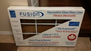 Fusion Decorative Glass Door Lites in excellent condition