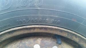 4 Rims+Tires 195/65R15 91R ($50 OBO)