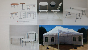 Party Rentals:Tents,Chairs,Tables & Sand bag for Sale!!
