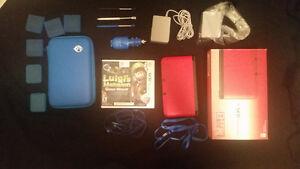 3DS XL Rouge + Luigi mansion + Housse protection + accessoire