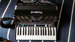 Brand new accordion and equipment.