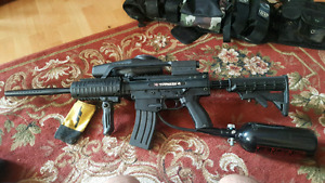 Paintball Tippmann X7 w/electronic trigger+attachments and gear
