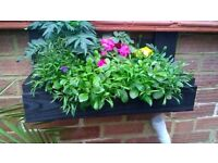 Rustic Wooden Wall / Fence or Free Standing Flower / Plant Box / Planter