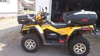 CANAM OUTLANDER 800 2009 2 PLACES EXTRA CLEAN!