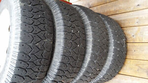 16 ALUMINUM RIMS WITH LT225 75 16 TRACTION KING TIRES 5X114.3 St. John's Newfoundland image 3