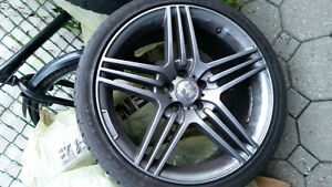 5x112 245/35r19 RIMS AND TIRES GREAT CONDITION GUN METAL