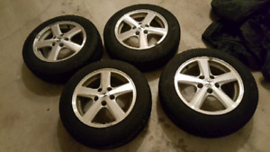 Goodyear winter tires on Honda wheels