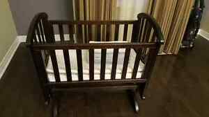 Baby cradle and brand new bedding set