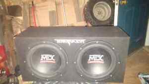 """MTX Terminator 12"""" subs and amp"""