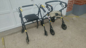 2 ROLLING WALKERS small appliences n more