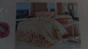 King/Queen Size bed sheet set with dovet cover