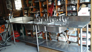 multi stainless steal sink work station