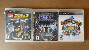 PS3 games for sale. Lego Batman 2, Starwars, Skylanders