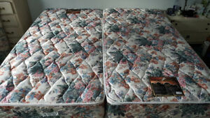 XL twin Beds with frames  and bedding