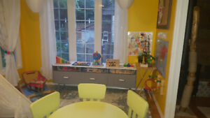 Immediate F/T spot available in licenced home daycare